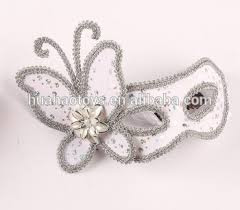 Plastic Masks To Decorate Fancy White Plastic Venice Mask With Butterfly Sequin Decorate For 73