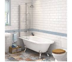 freestanding traditional roll top shower bath small repairable damage