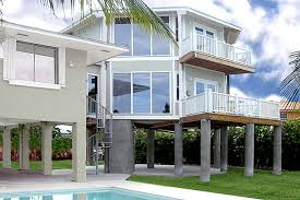 House plans  home plans and new home designs   floor plan    Two Story Pilings Collection