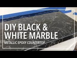 diy black white marble countertop resurfacing with resin you