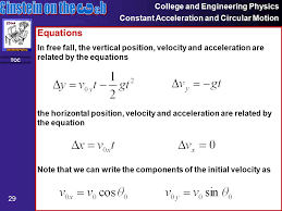 29 college and engineering physics constant acceleration and circular motion 29 toc equations