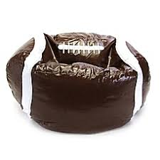 image of sports football bean bag chair in brown beanbags sphere chairs furniture dorm