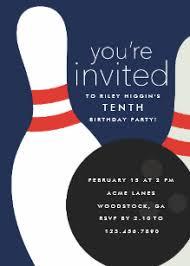 Bowling Party Invitation Bowling Birthday Invitations Zazzle