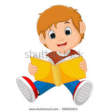 vector ilration of boy reading book