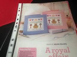 Cross Stitch Chart New Baby Birth Card Chart Teddy Boy Or