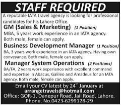 Gm Sales And Marketing Job, Iata Travel Agency, Business Development ...