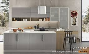 360cm width standard kitchen cabinet with gray laminate finish op17 hpl01