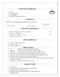 Ccna Resume Sample Resume Format Resume Format New Resume Resume