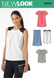 Top Patterns Inspiration 48 New Look Pattern Ladies Pleat Front Top With Sleeve And Collar