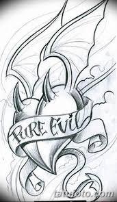 фото эскизы тату сердце от 20062018 059 Sketches Tattoo Heart