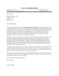 Hr Cover Letter Example The Best Letter Sample