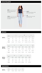 Jeans Size Chart Size Chart