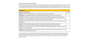 job search planning checklist workforce solutions employer job search planning checklist