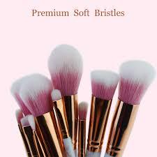 chileelove 10 pcs rose gold marble stripe pro beauty tool makeup brushes kits blush bulk powder eye shadow highlight brush in makeup scissors from beauty