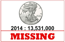 Missing American Silver Eagle Bullion Coins