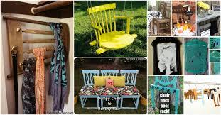 Diy repurposed furniture Junk Diy Crafts 20 Brilliantly Creative Ways To Repurpose Old Chairs Diy Crafts