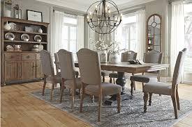 ashley dining room sets. grayish brown tanshire table and base view 2 ashley dining room sets r