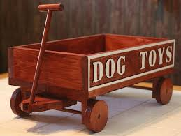 wood toys dog toy wagon wood toy box by kmg on