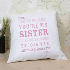 Personalised Sister Smile Cushion