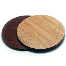 round laminate table top 36 inch reversible oak walnut