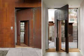 Modern Residential Design Inspiration: Large Pivot Doors