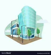 modern office building. Modern Office Buildings Cartoon Style Vector Image Building C