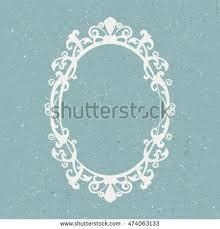 oval mirror frame. Vintage Oval Mirror Frame - Vector Illustration O