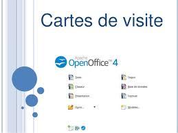 cartes des visites cartes de visites open office