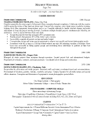 Resume Samples For Photographers