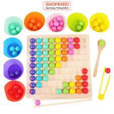 Đồ chơi gỗ xếp hình cho bé phát triển trí tuệ tư duy logic IQ EQ cho bé từ  3 tuổi - Đồ chơi xếp hình