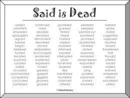 Said Is Dead Free Printable Synonym Poster