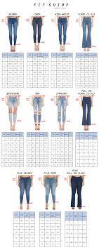 Jean Waist Size Chart Size Chart
