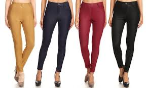 Up To 80 Off On Womens Cotton Blend Jeggings Groupon Goods