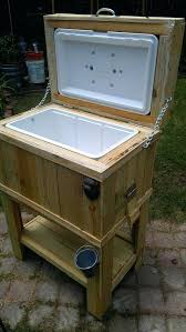 rustic ice chest best ice chest cooler ideas on wooden