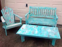 shabby chic patio furniture. Best Shabby Chic Patio Furniture With Blue Painted Home Decor P