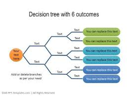 tree in powerpoint powerpoint decision tree diagrams