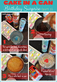 Cake In A Can Birthday Surprise Diy