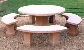 round concrete patio table and benches landscape tables outdoor phoenix 7 concrete patio table benches