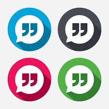 Quote Symbol Delectable Quote Sign Icon Quotation Mark In Speech Bubble Symbol Double