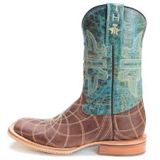 Tin Haul Womens Dream Catcher Cowboy Boots Turquoise