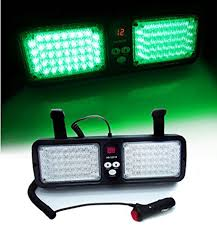 green 86 led car truck sun visor strobe flash lighting emergency warning light china