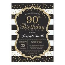 90 Birthday Party Invitations 90th Birthday Invitations 30 Fabulous Invites To Impress