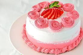 Strawberry Milkshake Cake Rosette Cake Valentines Day