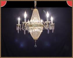 vintage italian french empire basket chandelier 590 amazing leaded crystals wow