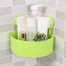 Plastic Corner Shower Shelves Home Storage Plastic Suction Cup Bathroom Kitchen Corner Storage 88