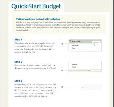 easy budget form quick start budget dave ramsey budget templates