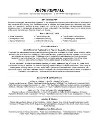 Law Enforcement Resume Templates Inspiration Police Officer Resume Template Musiccityspiritsandcocktail