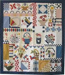 999 best Quilts...Baskets images on Pinterest | Embroidery, DIY ... & Piece and Plenty quilt by Moda.do in red, white, blue with green and a  touch of yellow - Minnick & Simpson style! Adamdwight.com
