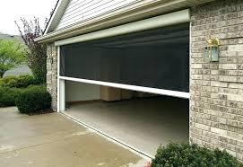 screened in garage door genius retractable screen systems screened in garage door retractable garage screen door