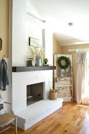 painting a fireplace whiteHow to Paint a Brick Fireplace  Little Vintage Nest
